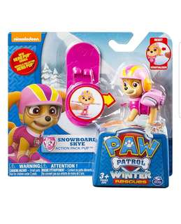 Paw Patrol Winter Rescues Action Pack Pup, Snowboard Skye