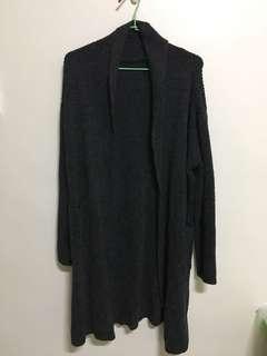 無釦開襟針織外套