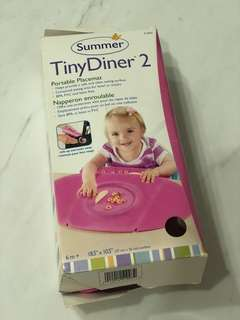 Summer Infant, Tiny Diner 2, Pink, Portable Placemat