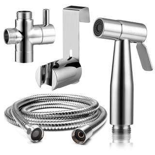 Premium Stainless Steel Bathroom Toilet Hand Held Handheld Portable Bidet Spray Sprayer Gun And Hose