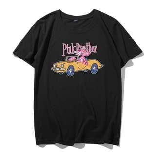 Pink Panther Car Ride T-Shirt - Unisex