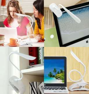 Clip clamp led flexible lamp light night reading study pet bedside