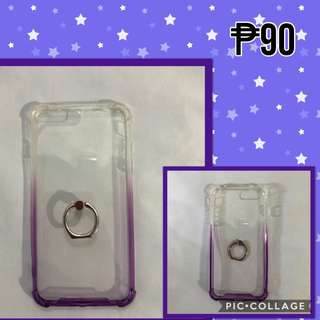 Purple & White Clear Case w/ Ring!