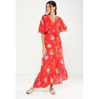 New Cotton On Red Wrap Maxi Dress (sizes XS- M avail)