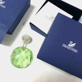 絕版2008年會員限定全新Swarovski伸縮水晶吊飾(綠色)