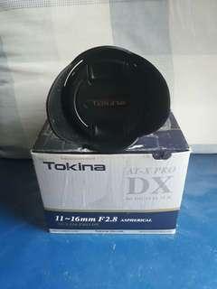 🚚 Tokina 11-16mm f2.8 for nikon