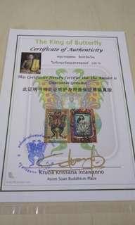 Kruba butterfly amulet.