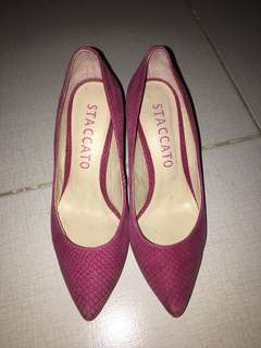 Stacatto heel stilleto shoes
