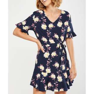 Cotton On Navy Blue Floral Dress