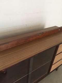 Old teakwood water level ruler