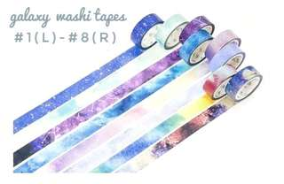 [T]Galaxy washi tapes