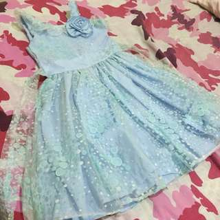 Baby blue gown (size 2)