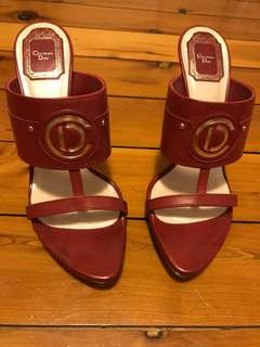 Dior Red Leather High Heel Sandals Size 39 (AU 8)