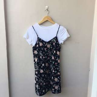 H&M FLORAL DRESS SMALL
