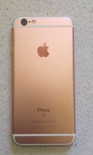 Iphone 6s 16gig rosegold FU