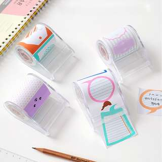 Sticky Notes Roll Lucu Cute Post it Memo
