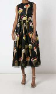 D&G Ice Cream print formal dress