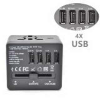 🚚 Multifunction 4 USB Charger Travel Adapter 100-250V Plugs Sockets Converter US/AU/UK/EU Specification Worldwide Universal