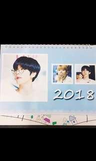 EXO Baekhyun 2018 Desk Calendar