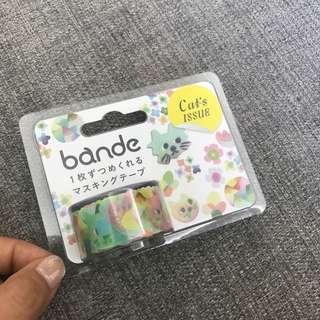 罕‼️Bande Cat's Issue MT 貼紙 masking tape 可愛貓貓紙膠帶 made in Japan 🇯🇵