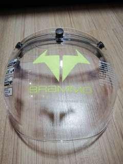 BRAMMO bubble visor with flip up adaptor