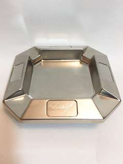 Davidoff Cigarettes 限量版不銹鋼,銅色煙灰碟,9成新,size: W10 x L10cm