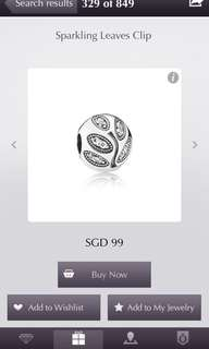 [Preowned] Pandora Sparkling Leaves Clip