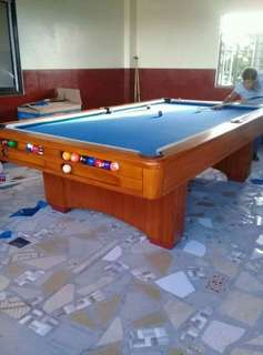 REFURBISHED HARWOOD MARMOL SLATE STANDARD BILLIARD TABLE
