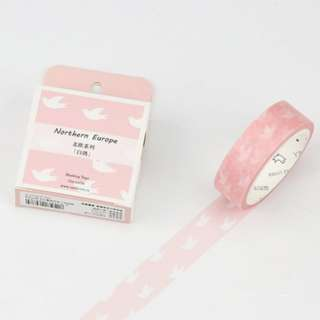 Northern Europe Dove Washi Tape