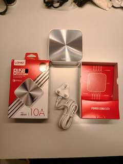 LDNIO高通QC3.0快充 10A八口USB手機快速充電器