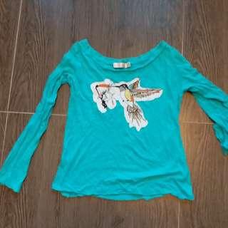 women girl blue shirt 女裝Tshirt