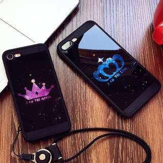 King and Queen Couple Case for iPhone 6/6s 6s+, 7, 7+, 8, 8+,