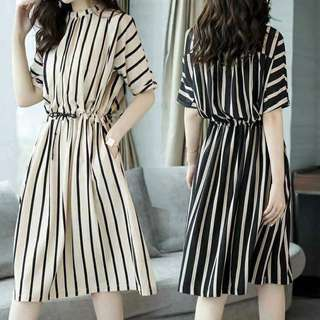 Korean Stripes Dress