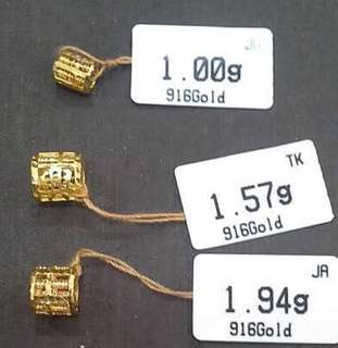 Abacus Pendant Gold 916