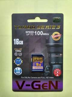 SD Card V-Gen 16GB, speed up to 100mb/s
