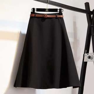 Midi A-line Skirt-Free Size