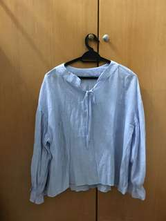 Peasant Blue Blouse