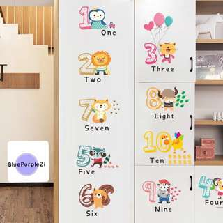 Wall sticker🎀number 🎀education baby