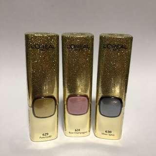 L'Oréal Paris Metallic Addiction Lipsticks