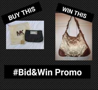 #Bid&Win Raffle Promo - Coach, Michael Kors, Steve Madden, Anne Klein, Fossil, Dooney & Bourke