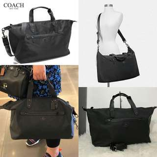 Coach Nylon Weekender Black sz 50x40x25 (very light and spacious with crossbody straps, perfect for short trip)