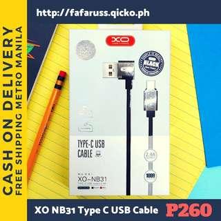 XO NB31 Type C USB Cable