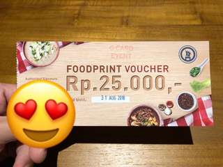 Dijual Voucher Food Court Food Print Grand Indonesia West Mall Lantai 5