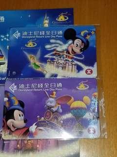 迪士尼五週年車票