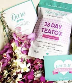 (Sealed) 💌 Skinnymint Teatox Morning Cleanse #payday30