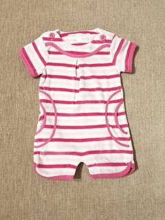 Baby girl Chateau de Sable pink terry romper bodysuit