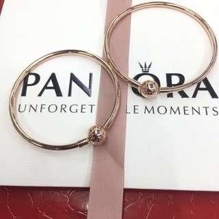 Pandora Rosegold Classic Bangles
