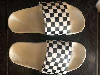 VANS checkered slides