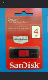 Sandisk USB 2.0  Flash Drive Cruzer 4 GB