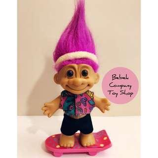 1980s VTG troll doll trolls 滑板 醜娃 巨魔娃娃 幸運小子 古董玩具 絕版玩具 Russ